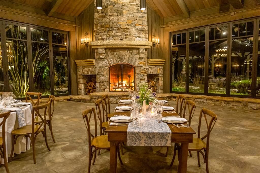 OEI wedding pavillion fireplace